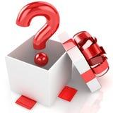 Open boxas med ifrågasätter. Isolerat stock illustrationer