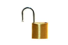 Open Brass Padlock Royalty Free Stock Images