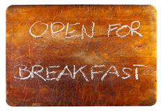 Open for breakfast Stock Photo