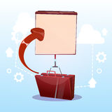 Open Briefcase With Flip Chart Business Presentation Concept Stock Photos