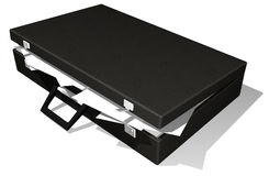Open briefcase full of paper Royalty Free Stock Photography