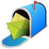 Open brievenbus met twee brieven Stock Afbeeldingen