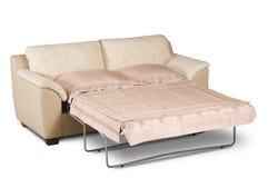 Open bright sofa Stock Photo