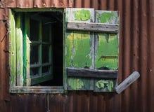 Open broken wooden window Stock Photography