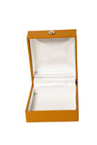 Open brown box for jewelry Royalty Free Stock Photography