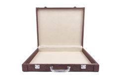 Open brown case royalty free stock photography