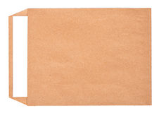 Open brown envelope with paper letter inside Royalty Free Stock Photos