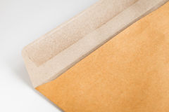 Open brown envelope on the table Royalty Free Stock Photo