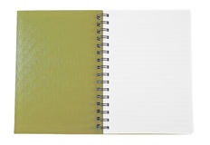 Open brown notebook Stock Photos