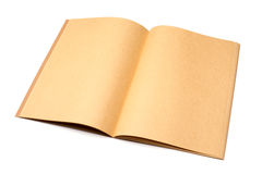 Open brown notebook Royalty Free Stock Image