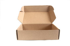 Open brown paper box Stock Photo