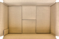 Open brown paper box Stock Image