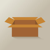 Open brown paper box vector. Opened brown paper box vector stock illustration