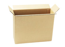 Open Brown Paper Box royalty free stock photo