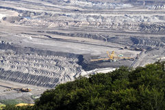 Open bruinkool - gegoten mijnbouw Royalty-vrije Stock Afbeelding
