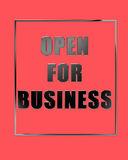 Open for business Royalty Free Stock Image