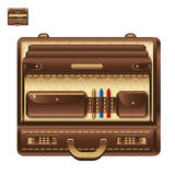 Open business briefcase in realistic style vector icon. Open business briefcase realistic style vector icon Royalty Free Stock Photography