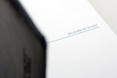 Open business diary Stock Photo