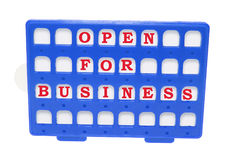 Open for Business Sign Royalty Free Stock Image