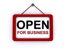Open for business sign Stock Photos