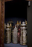 Torah Scrolls Cabinet Stock Photo