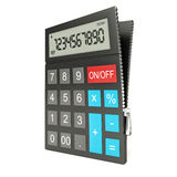 Open calculator, isolated white background, 3d Stock Photo