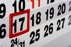 Open calendar page Stock Images