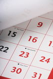 Open Calendar Page Royalty Free Stock Photography