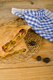 Open calzone Stock Photography