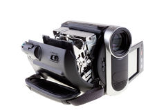 Open camcorder. On white background Royalty Free Stock Images