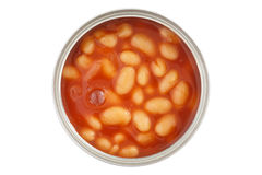 Open can of beans from top Royalty Free Stock Photo