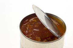 Open Can of Chili Royalty Free Stock Photos