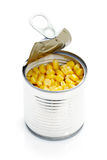 Open Can of Corn  Stock Photo