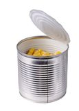 Open can with corn Royalty Free Stock Image