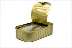 Open can of sardines Royalty Free Stock Photography