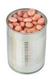 Open a can with a tin beans. Stock Photo