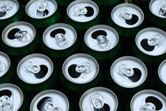 Open cans Stock Photo
