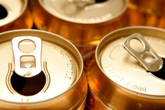 Open Cans Stock Photography