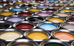 Free Open Cans Of Paint, Creativity Concept Stock Photos - 165250033