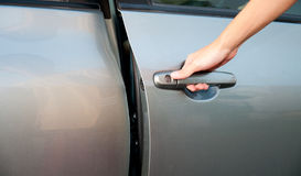 Open car door Royalty Free Stock Image