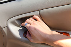 Open the car door Royalty Free Stock Images