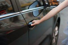 Open the car door Stock Image