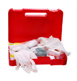 Open car first aid kit Royalty Free Stock Photo