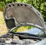 Open car hood Stock Images