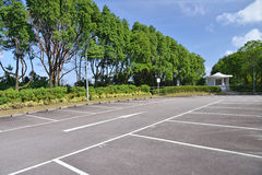 Open Car Parking Lots. Spacious  Car Parking Lots Outdoor Stock Photography