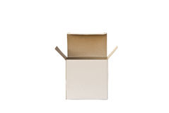 Open cardboard box . Royalty Free Stock Image