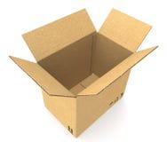 Open Cardboard Box. Stock Image