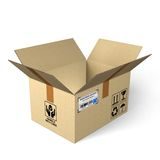 Open cardboard box Royalty Free Stock Photography