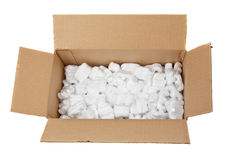 Open cardboard box Royalty Free Stock Images