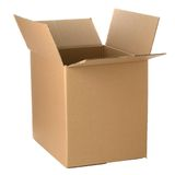 Open cardboard box Stock Photos